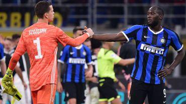 Lukaku (Inter) et Szczeny (Juventus)