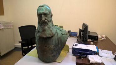 Le buste de Léopold II déboulonné par des militants anti-coloniaux a été retrouvé