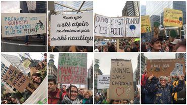 Manifestation pour le climat: les slogans des marcheurs en photos et vidéos