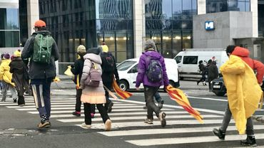 Les Catalans, soutenus par la N-VA, ont débarqué ce jeudi à Bruxelles