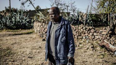Un fermier Basotho sur sa propriété d'un village proche de Maseru, au Lesotho, le 4 juin 2017