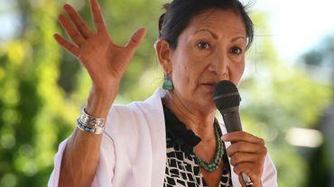 La candidate amérindienne Deb Haaland, le 1er octobre 2018 à Albuquerque (Nouveau-Mexique)