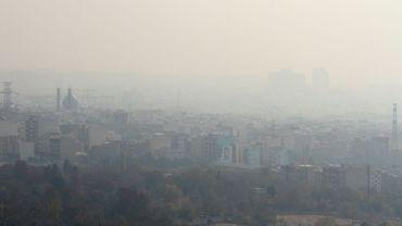 Brouillard de pollution au-dessus de Téhéran, le 14 novembre 2016