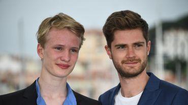 Victor Polster et Lukas Dhont, à Cannes en mai 2018