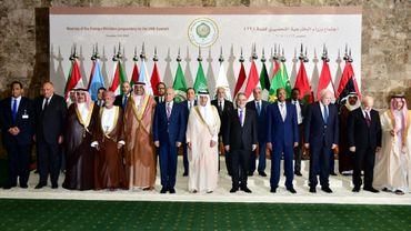 Réunion des ministres arabes des Affaires étrangères le 12 avril 2018 à Ryad pour préparer le sommet annuel arabe prévu dimanche en Arabie saoudite