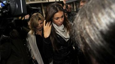"La jeune Marocaine Karima El Mahroug, alias ""Ruby"", arrive au tribunal de Milan, le 14 janvier 2013"