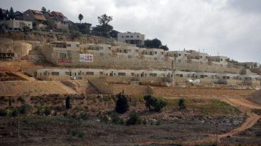 Des maisons en construction dans la colonie israélienne d'Amichaï, en Cisjordanie occupée, le 7 septembre 2018