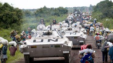 Image d'archive montrant les casques bleus dans la région de Goma en 2008