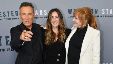 Bruce Springsteen en famille lors de la présentation du film