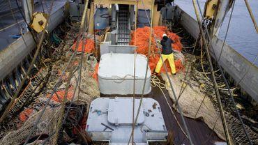 Dans un bateau qui pratique la pêche à impulsion électrique