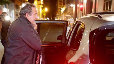 Michel Platini ressort libre de garde à vue