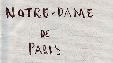 Illustration issue du manuscrit original de Notre Dame de Paris