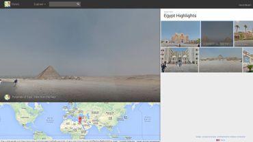 En route vers les pyramides d'Egypte avec Google Street View