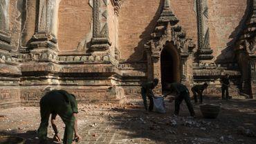 Le site de Bagan, après le séisme