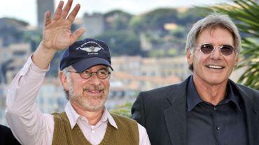 Steven Spielberg et Harrison Ford au Festival de Cannes en 2008