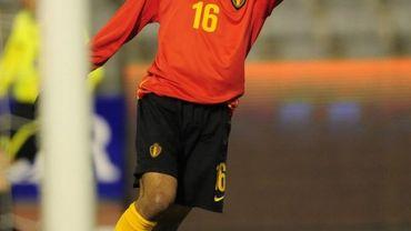 Mehdi Carcela sous le maillot des Diables Rouges