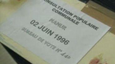 Consultation populaire communale du 2 juin 1996