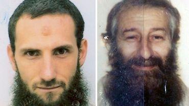 Raphael Gendro et Bassam Ayachi, sur des photographies de la police italienne, en 2009