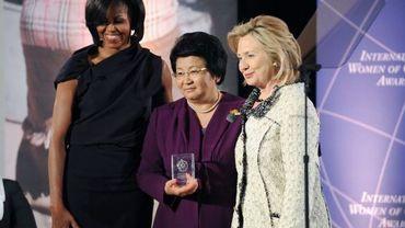 Michelle Obama, Rosa Otounbaïeva et Hillary Clinton