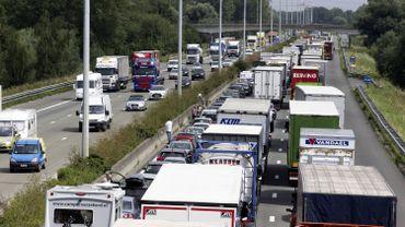 Des embouteillages sur l'E17 à hauteur de Saint-Nicolas, en province de Flandre Orientale (illustration).