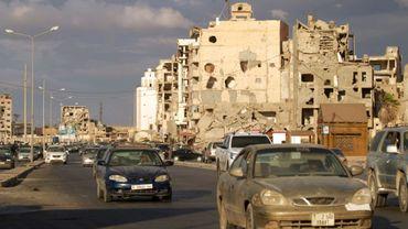 Des voitures à Benghazi en Libye, le 23 octobre 2020