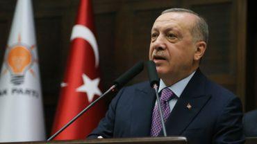 Le président turc R.T. Erdogan, ce 26 février à Ankara