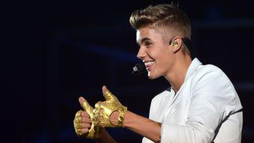 Le chanteur Justin Bieber de retour en studio
