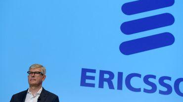 Börje Ekholm, le directeur général d'Ericsson, lors d'une conférence de presse au siège du groupe à Kista, en Suède, le 26 octobre 2016