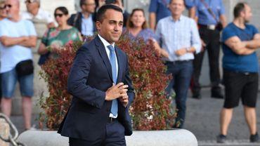 Le chef du mouvement 5 Etoiles Luigi Di Maio le 28 août 2019 à Rome