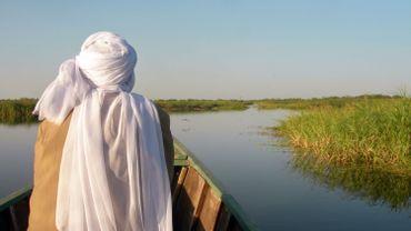 La superficie du lac Tchad se réduit d'année en année.