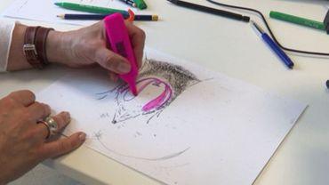 Pour aider les victimes à se réapproprier leur sexe, la sexologue Cendrine Vanderhoeven utilise le dessin