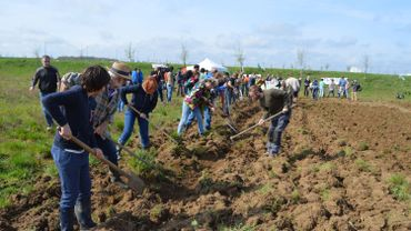 Une action symbolique à Ath pour la défense des terres agricoles