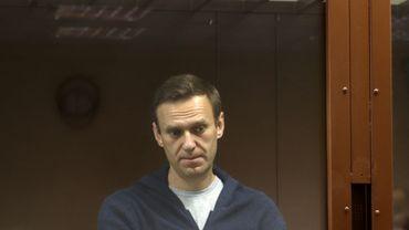 L'opposant russe Alexeï Navalny au tribunal de Moscou, le 12 février 2021