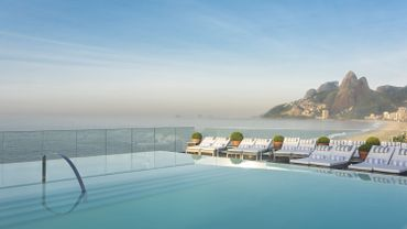 La piscine de l'Hôtel Fasano, de Rio de Janeiro