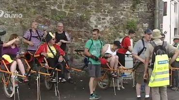 Huy: une randonnée en joëlette pour des personnes à mobilité réduite