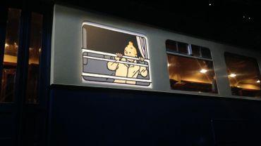 Les histoires de Tintin en relation avec l'univers ferroviaire sont présentées au Musée Train World.