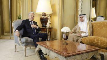 Didier Reynders avec Adel Al-Jubeir