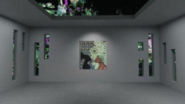 """Présentation virtuelle par theVOV de """"Untitled (Mangbetu)"""" de Shannon Bono et de """"Seeping Out Skybox"""" de Sian Fan, dans le cadre de l'exposition numérique """"Corpus Mentis"""" de Sarabande, organisée par Hikari Yokoyama et Trino Verkade (2021)."""