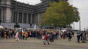 Action de soutien aux activistes anti-glyphosate jugés à Bruxelles
