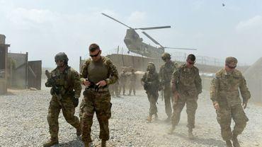 Des soldats américains à la base militaire de Connelly, dans la province de Nangarhar en Afghanistan, en août 2015