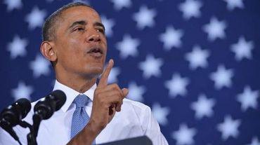 Le président Barack Obama, le 30 janvier 2014 lors d'un déplacement dans le Wisconsin