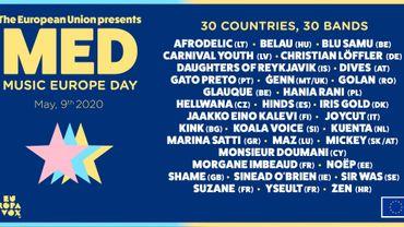 """Music Europe Day"" : 30 artistes européens feront bouger votre samedi !"