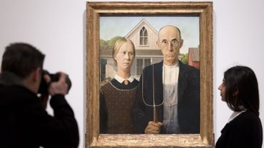 "Grant Wood, ""American Gothic"""