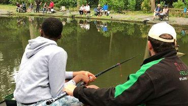 Junior et son professeur/pêcheur d'un jour