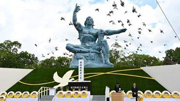 Cérémonie du 75e anniversaire de la bombe atomique de Nagasaki, le 9 août 2020