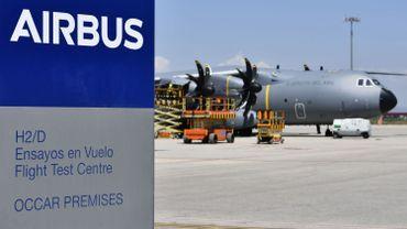 Le premier A400M belge a déjà effectué deux vols d'essai au départ de Séville