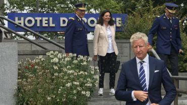 Le ministre de l'intérieur en visite de soutien à la police de Liège