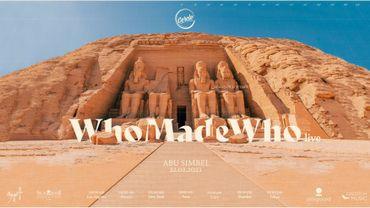 Cercle frappe à nouveau très fort avec son live devant les temples d'Abu Simbel en Egypte