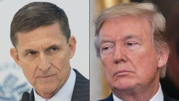 A gauche Michael Flynn, à droite Donald Trump.