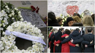 Les commémorations des attentats du 22 mars en images (direct)